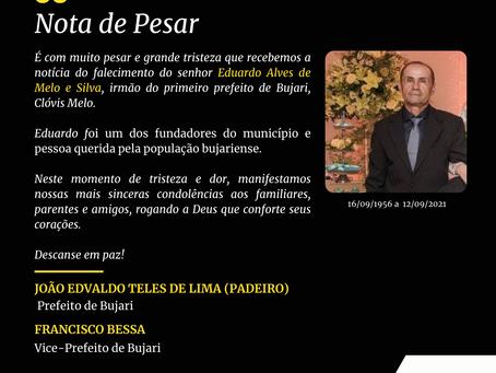 Nota de pesar: Falecimento de Eduardo Alves de Melo e Silva