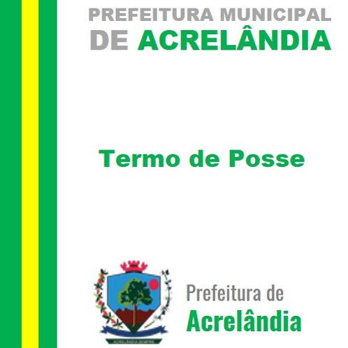 Termo de Posse - Prefeito e Vice-Prefeito