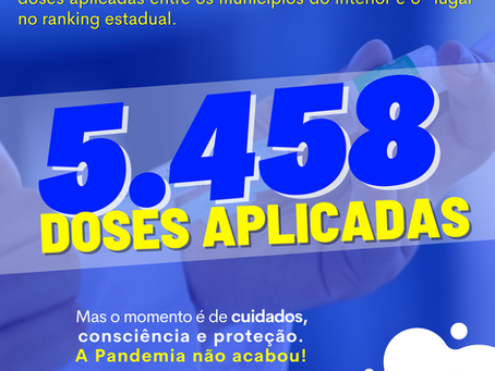 Marechal Thaumaturgo é o 1º no ranking em vacinação comparado aos demais município