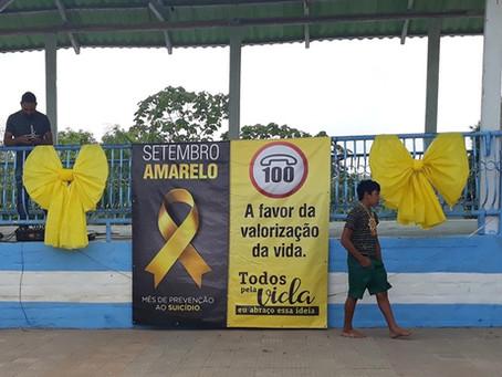 Prefeitura e secretária Fátima Souza de Assistência social  realizam Campanha Setembro Amarelo