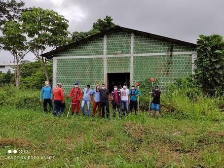 Prefeito Naudo Ribeiro acompanha trabalho de limpeza da Secretaria de Agricultura