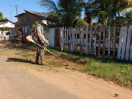 Prefeitura de Senador Guiomard realiza limpeza da Cidade