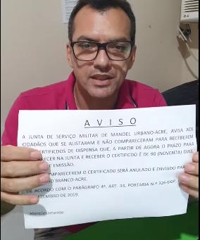 Junta Militar: Prazo para receber certificado de dispensa é de 90 dias, após esse prazo, multa