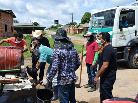 Prefeitura Rodrigues Alves inicia operação tapa-buraco na Cidade