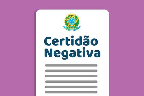 Certidão Negativa de Débitos