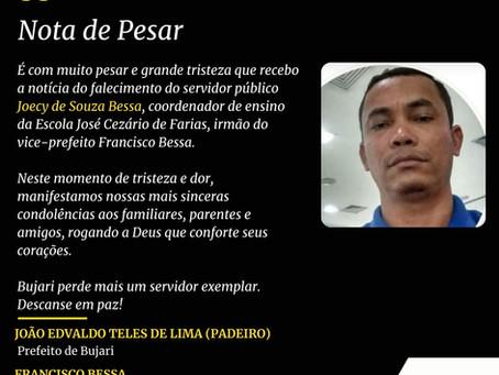 Nota de Pesar: Joecy de Souza Bessa