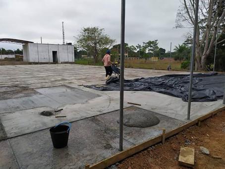 Obra da Praça da Juventude está em estágio avançado, em breve, novo local para práticas esportivas