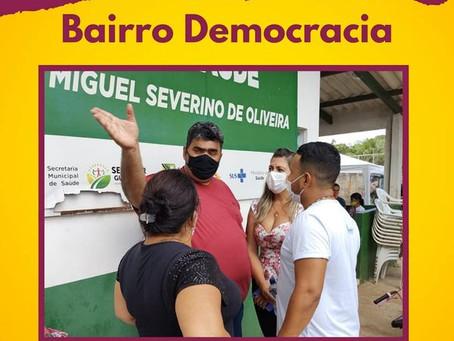 Leire do Mixico participa do Itinerante no bairro Democracia