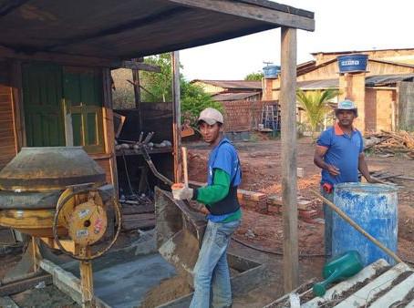 Secretaria de Obras dá início a construção de muro de segurança
