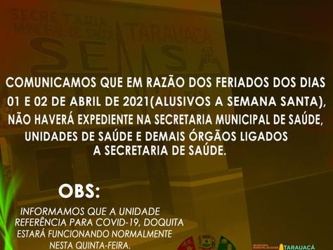 Comunicado - SEMSA