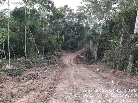 Secretaria Municipal de Agricultura realiza abertura de ramal de dar acesso a sua área experimental
