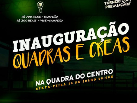 Convite: Prefeitura convida população para inauguração da quadra poliesportiva