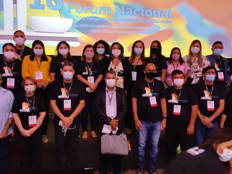 Secretaria de Educação participa do segundo dia do 18° Fórum Nacional da Educação