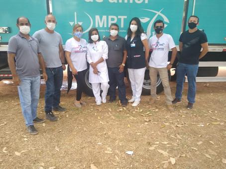 Chegou em Porto Acre na Vila Caquetá a carreta do Hospital do Amor