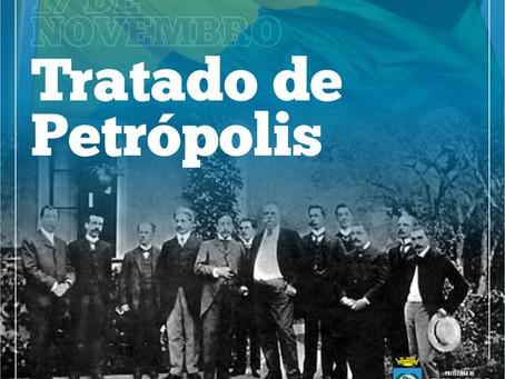 17 de novembro, Tratado de Petrópolis