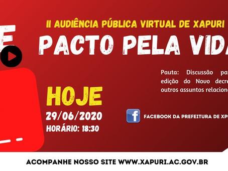 II Audiência Pública em Xapuri: Live Pacto pela Vida, foi um sucesso e resultou no decreto 655/2020