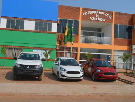 Prefeitura de Acrelândia adquire novos veículos automotores para uso da educação e administração