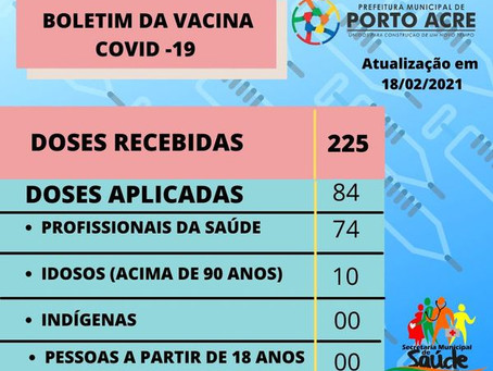 Vacinômetro 18 de fevereiro de 2021