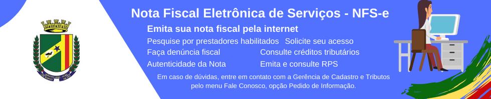 Nota Fiscal Eletrônica (NFS-e)