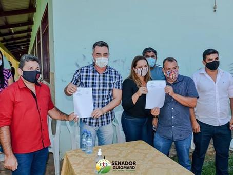 André Maia assina Ordem de Serviço para construção de Ginásio Poliesportivo no Assentamento Bonal