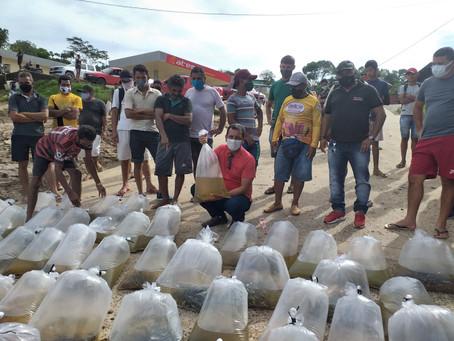Projeto pioneiro: Prefeitura finaliza a entrega de alevinos aos piscicultores do município