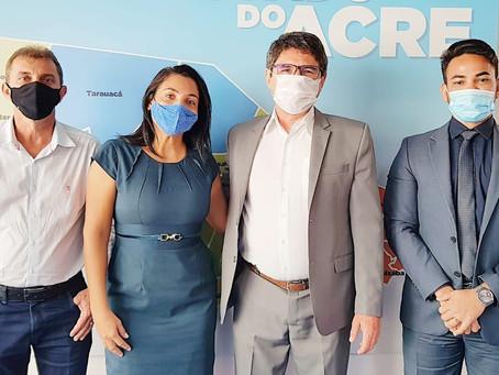 Em visita ao TCE Rosana Gomes garante que a marca de sua gestão será trabalhado ético e transparente
