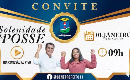 Convite: Solenidade de posse do prefeito Bené Damasceno