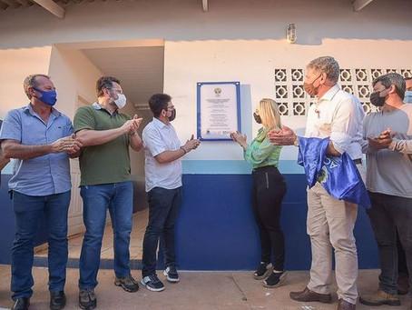 Prefeito participa a convite do Depasa da entrega das obras de melhorias na Eta de Acrelândia