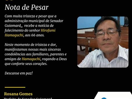 Nota de Pesar: Hirofumi Hamaguchi
