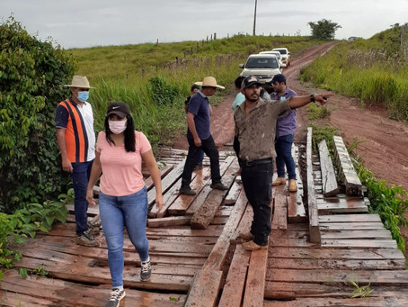 Prefeita Rosana Gomes, vistoria ramais e busca soluções para o homem do campo