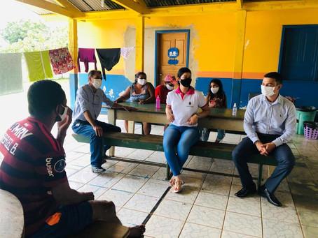 Escolas Major Wenceslau Salina e Nilce Machado da Rocha recebe visita de autoridades do município