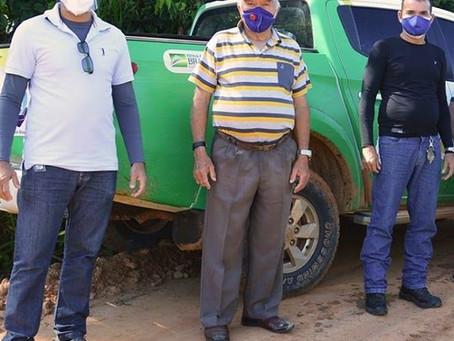 Rodrigues Alves junto a equipe de Saúde faz pesquisa na zona rural para ver a situação do Covid-19