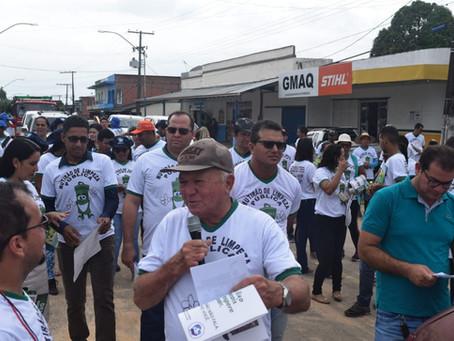 Em Rodrigues Alves- Prefeitura realiza mutirão de limpeza pública