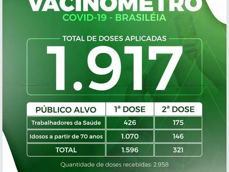 Vacinômetro, atualizado em 26 de março de 2021