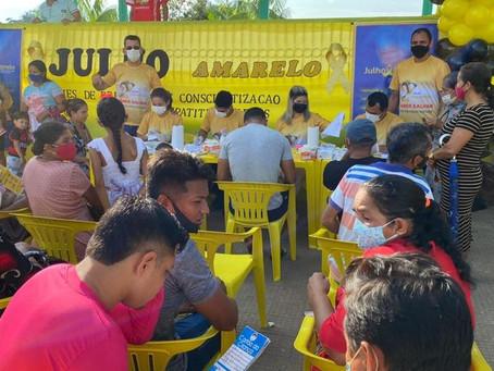 Prefeitura municipal através da pasta da saúde realiza grande encerramento da Campanha Julho Amarelo