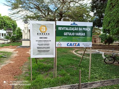 Prefeitura de Xapuri retoma obra de Revitalização da Praça histórica Getúlio Vargas