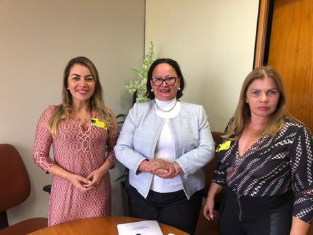 Em Brasília Fernanda Hassem busca recursos, com parlamentares acreanos