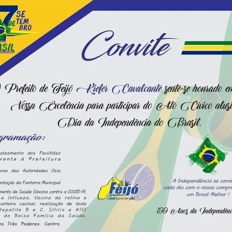 Convite Especial: Dia da Independência do Brasil, 7 de setembro