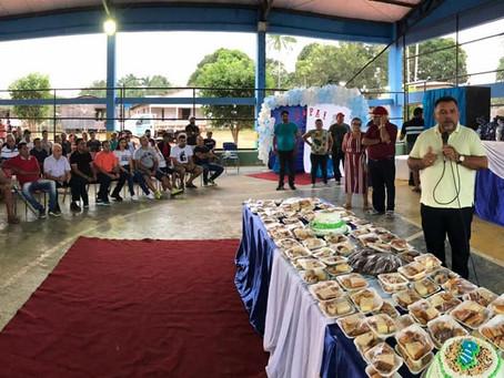 Prefeitura realiza dia dos pais que foi festejado com sorteio e brindes