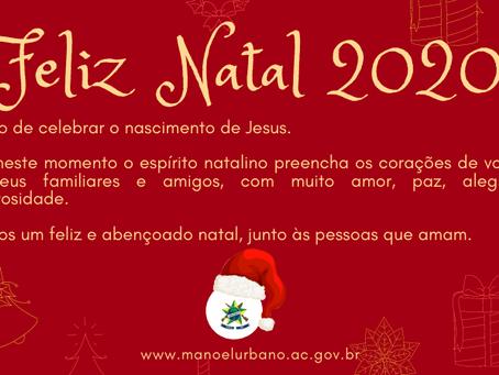 Prefeitura de Manoel Urbano deseja um Feliz Natal 2020