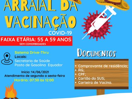 Prefeitura de Bujari reaArraial da vacinação