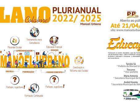 Tanízio Sá, convida a população para participar da elaboração do PPA de Manoel Urbano