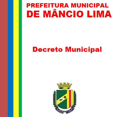 Decreto Nº 71/2021 - EXONERAR a pedido, o senhor CLAUDINEI NASCIMENTO LIMA