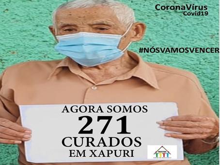 João Honório Matias de 101 anos, anuncia os 271 xapurienses curados da Covid-19