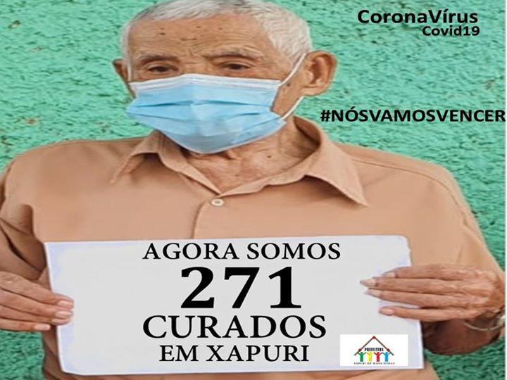 Senhor João Honório Matias, 101 anos de idade, curado do covid-19