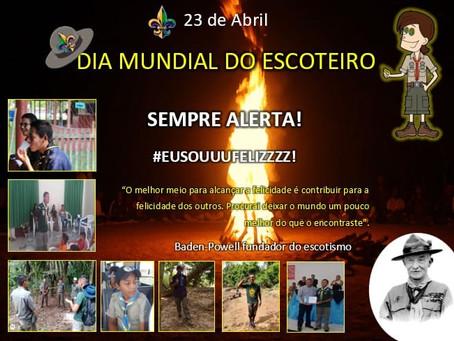 23 de abril - Dia Mundial do Escoteiro!