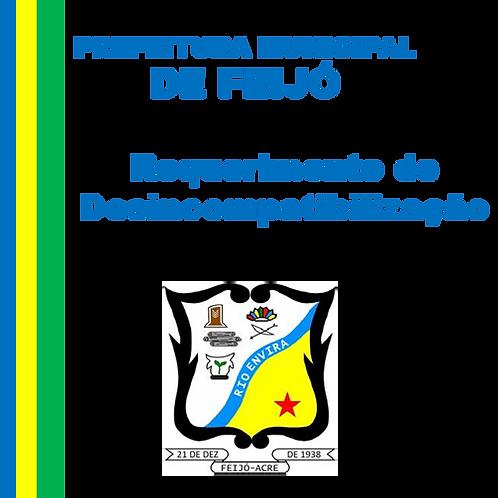 Requerimento de Desincompatibilização para concorrer as eleições municipais 2020