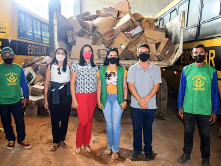 Rodrigues Alves - Prefeitura realiza primeira coleta seletiva de papelão no município