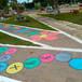 Prefeitura revitaliza praça e a deixa bastante colorida para aprendizado das crianças