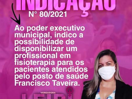 Vereadora Leire do Mixico reivindica profissional de fisioterapia para o posto Francisco Taveira